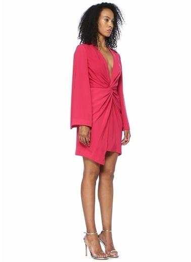 Keepsake Derin V Yaka Düğümlü Mini Elbise Fuşya